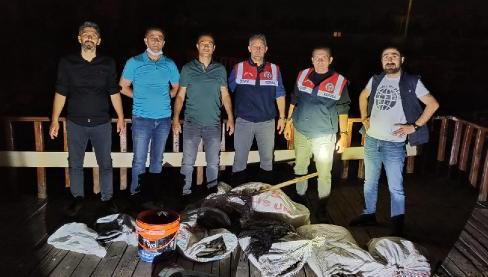 Kaçak avlanan 250 kilogram balığa el konuldu
