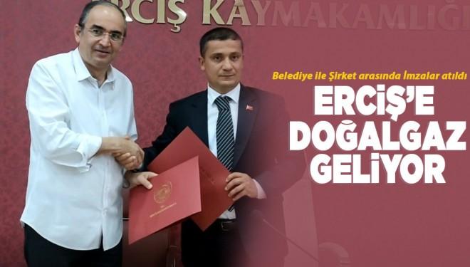 Erciş de doğalgaza kavuşuyor
