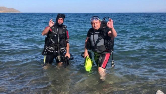 Su altı tutkunlarının yeni gözdesi Van Gölü'nün derinlikleri (VİDEO)