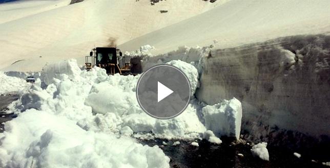 Van'da Nisan'da karla mücadele