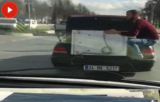 Çamaşır makinesiyle yolculuk (VİDEO)