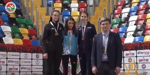Vanlı sporcu Zeynep, birinci oldu (VİDEO)