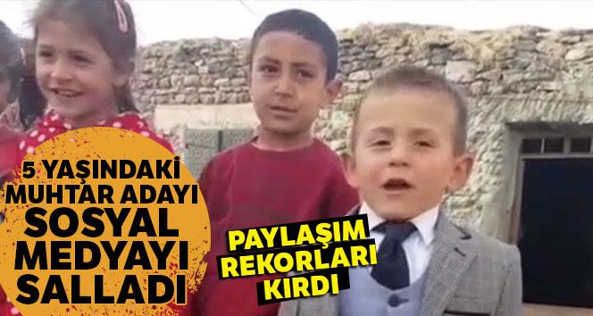 Beş yaşındaki muhtar adayından ikinci video